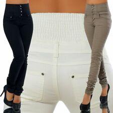 Damen Jeans Hose Hüfthose Damenjeans Hüftjeans Röhrenjeans Hochbund G181
