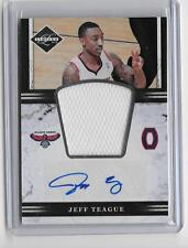 JEFF TEAGUE 2011/12 PANINI LIMITED  GAME JERSEY AUTOGRAPH #56/99
