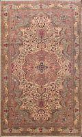 Vintage Floral Anatolian Turkish Oriental Area Rug Wool Hand-knotted 7x9 Carpet