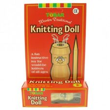 Knitting Doll, traditional wooden doll, Wooden Needle, Wool, Boxed