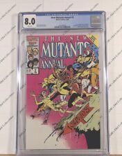 Marvel New Mutants lot: Ann. issue #2 CGC graded 8.0(white pg)+12 ungraded books