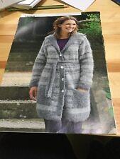 Ladies Fleecy Cosy Long Cardigan Knitting Pattern