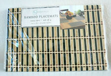 BENSON MILLS Set of 4 Baige BROWN BAMBOO PLACEMATS Brown and Natural