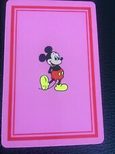 Swap Playing Cards 1 1970's Japanese Nintendo Disney Pink Mickey Mouse A188