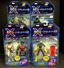 2001 TOY BIZ X-MEN: EVOLUTION SERIES 2 BLOB SPYKE WOLVERINE 4 FIGURE SET WB D62