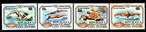 Olympic Cote d'Ivoire 1983 set of stamps Mi#787-90 MNH CV=10€ lot 2