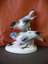 Porzellanfigur Vögel mit Käfer / Carl Scheidig Gräfenthal