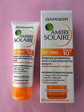 ambre solaire UV VISO 10 IP VISO DECOLLETE 75ML OFFERTA PREZZO STOCK GARNIER