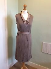 Gap Dress Size Small Beige Taupe Buttons Work Sleeveless