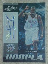SERGE IBAKA 2012-13 ABSOLUTE HOOPLA AUTOGRAPH CARD #36 72/99