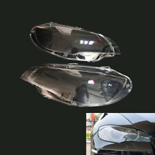 Pair Headlight Cover Plastic Lens Replace Fit for BMW E71 X6 08-14 63117271371/2