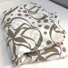 Ikea Malou Blom Wilj Duvet Cover Full Size Bedding White Tan Purple Floral