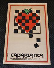 1987 Cuban Original Movie Poster.Ajedrez Master.CAPABLANCA.Chess Champion art