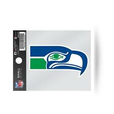 "Seattle Seahawks RETRO 3 x 4"" Small Static Cling Truck Car Auto Window Decal NEW"
