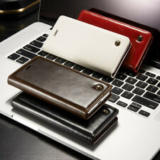 Flip Case Tasche Etui Hülle Cover Case Sony Xperia XA Braun Rot Schwarz Weiß Neu