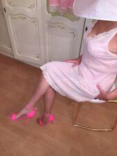 exklusive italienische pink Lackleder Sandalette Stiletto von der Edelmarke 1969
