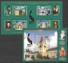 D0885 2008 ROMANIA ART ARCHITECTURE IASI DOCUMENTARA !!! GOLD 1KB+1BL MNH