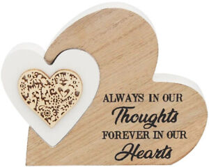 'Always In Our Thoughts' - Natural Toned Heart Block