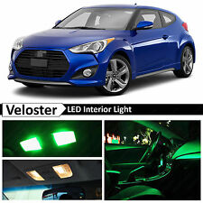 8x Green LED Lights Interior Package Kit for 2011-2015 Veloster