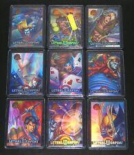 1995 Fleer Ultra X-Men Chromium LETHAL WEAPONS Insert Set of 9 Cards NM/M Marvel