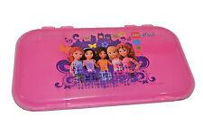 "LEGO MiniFigure FRIENDS Storage Case PINK Plastic Box Clutch NEW 11"" x 6"" Iris"