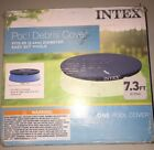 Intex 7.3 Ft Above Ground Swimming Pool Vinyl Round Cover Tarp,28020E (Open Box)