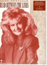 """LYNN ANDERSON """"READ BETWEEN THE LINES"""" SHEET MUSIC-RARE-BRAND NEW ON SALE-MINT!!"""
