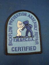 Vintage Backflow Prevention Assembly Repair Certified Embroidered Iron On Patch