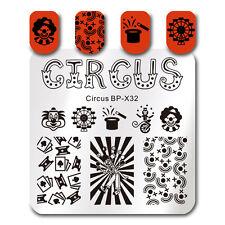 Square Nail Stamping Plate Nail Art Circus Design Image Plate Born Pretty BP-X32