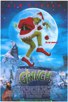 HOW THE GRINCH STOLE CHRISTMAS MOVIE POSTER DS 27x40 INTL. DIFF. ART! JIM CARREY