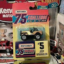 "Matchbox-1997 Edition-75 Challenge-Gold-#5 ""Jeep Wrangler"" 1 of 10,000"