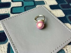 Lovely Silver-Plated Handmade Faux Glass Ring