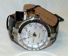 Jacques Lemans G-218B Men's Tornado Timer Automatic Swiss Made Watch Silver NEW!