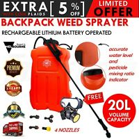 20L Backpack Electric Rechargeable Sprayer 12V Weed Garden Farm Pest Chemical