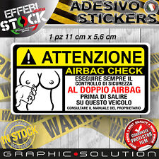 Adesivo Sticker Pegatinas ATTENZIONE TETTE AIRBAG HOT SEXY CAR TIR WARNING BOOBS