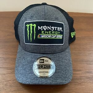 Monster Energy NASCAR Cup Series Black Mesh Trucker NewEra 9Forty Snapback Hat