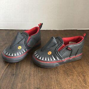 Vans Slip On Asher V Vanosaur Dinosaur Size 4.5 Toddler Shoes Kids Sneakers