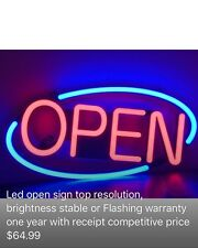 Business commercial Led Open sign neon