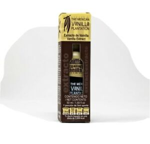 100% Pure And Organic Vanilla Extract (50 ml) 1.69 Oz Made in Mexico