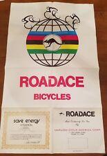 Vintage Maruishi Cycle Roadace Bicycle Promo Poster bike road