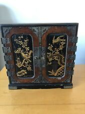 Antique Chinese Box , Handpainted , Lacquer Drawers
