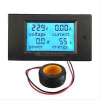 100A AC LCD Panel Digital Power Meter Monitor Voltage KWh Watt Voltmeter Ammeter
