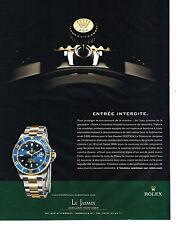 PUBLICITE ADVERTISING 075  2009  ROLEX  montre OYSTER PERPETUAL SUBMARINE DATE