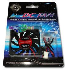 Evercool 60mm x 10mm 5v 3 pin Ball Bearing Fan + Screws EC6010M05CA   USA SELLER
