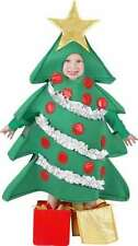 NEW Child Christmas Holiday Tree Costume with shoe cover presents Small 4-6 NIP