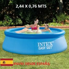 INTEX Piscina hinchable 244cm x 76cm Familiar desmontable Easy Set (2419 litros)