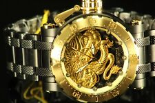 Invicta Coalition Forces Dragon Gold Plated Black Steel 52mm Automatic Watch
