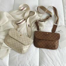 Women's Cross Body Flat Handbag Fau Leather Letter Paved Monogram Design Fashion