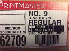 Printmaster White Envelopes - No. 9 Regular (3 7/8 x 8 7/8) 24 lb, (500 Box!)
