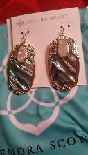 Kendra Scott Deva Abalone Shell Gold Drusy Drop Fashion Earrings NWT Limited KS